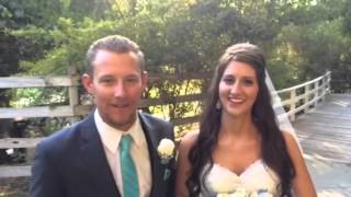 Dena and Logan give a nice testimonial after their wedding.