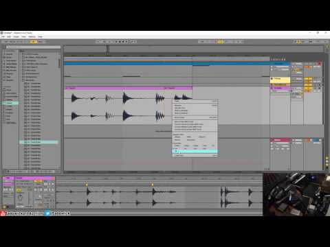 Ableton Live 9 - Warping A Sampled Drum Break Into A Loop