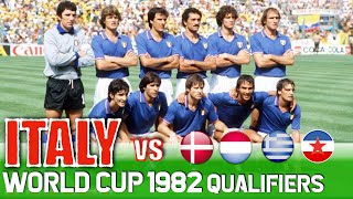 Italy World Cup 1982 All Qualification Matches Highlights Road to Spain