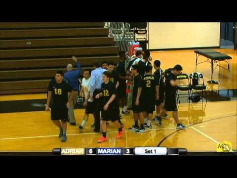 2/13/16 Adrian College Men's Volleyball vs Marian (Wis.)
