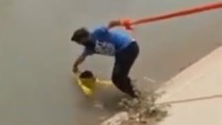 Man Uses Turban To Rescue Drowning Dog | The Dodo