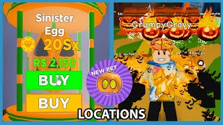 I Opened the NEW Sinister Egg! All Pumpkin Locations! - Roblox Magnet Simulator
