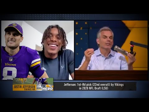 No. Justin Jefferson Did NOT Throw Shade at Kirk Cousins on The Herd