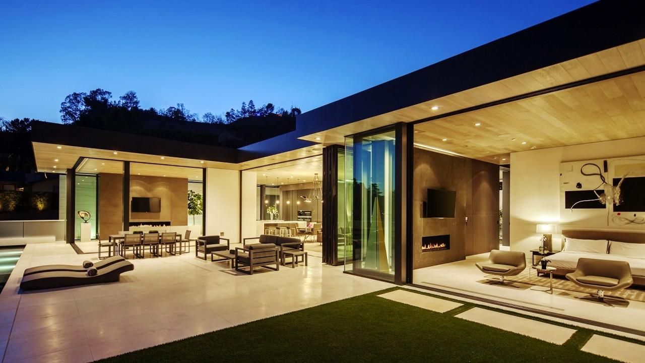 Warm Comfortable Modern Contemporary Luxury Residence in Los Angeles CA USA by McClean Design