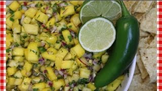 Mango Pineapple Salsa Recipe  How to Make Fruit Salsa