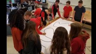 LaBrae High School RoboVikes Robotics Club Team Video 2017 NEOREP Penguin Bot Race