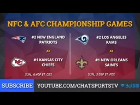 NFL Playoff Bracket: NFC & AFC Championship Schedule, Chiefs vs Patriots, Saints vs Rams Preview