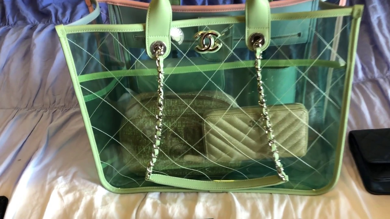 a571401cce1f Chanel PVC tote BAG and 20 SLG collection - YouTube