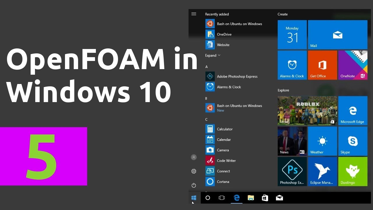How to install OpenFOAM and run a simulation in Windows 10