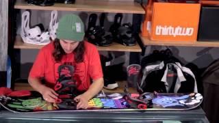 Как установить крепления на сноуборд . Перевод в описании