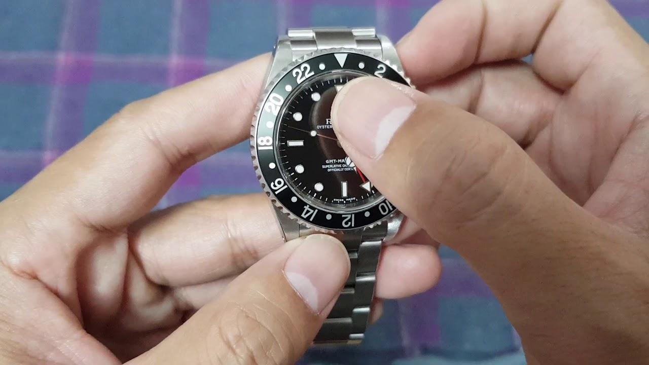 Sử dụng chức năng GMT trên đồng hồ Rolex GMT Master II