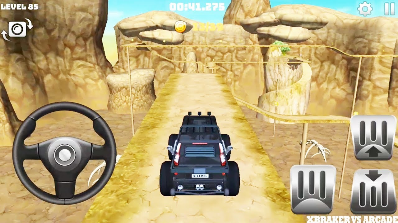 Offroad Truck Driving | Mountain Climb 4x4: Black Monster Truck New Levels - Android GamePlay#3 HD
