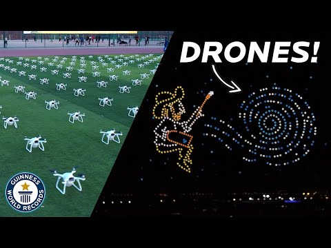 Unbelievable DRONE display - Guinness World Records