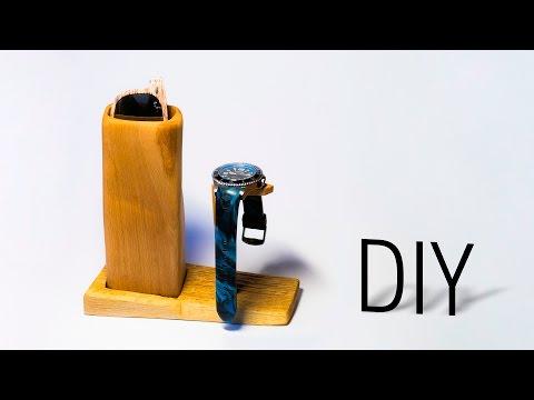 DIY Wooden Sunglasses & Watch Holder