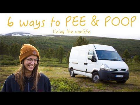 6 Ways To PEE & POOP Living In A Van - VAN LIFE TOILET