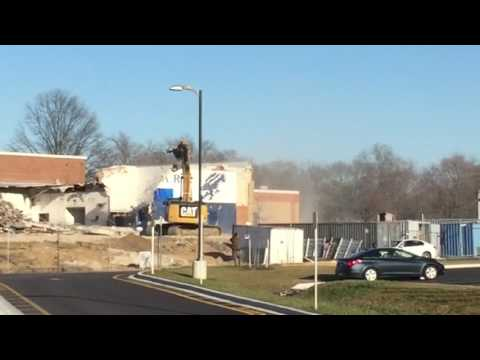 Severna Park High School wall coming down