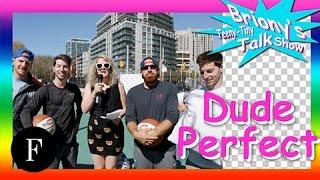 I Tried It: Basketball with Dude Perfect  Briony&#39s Teeny-Tiny Talk Show