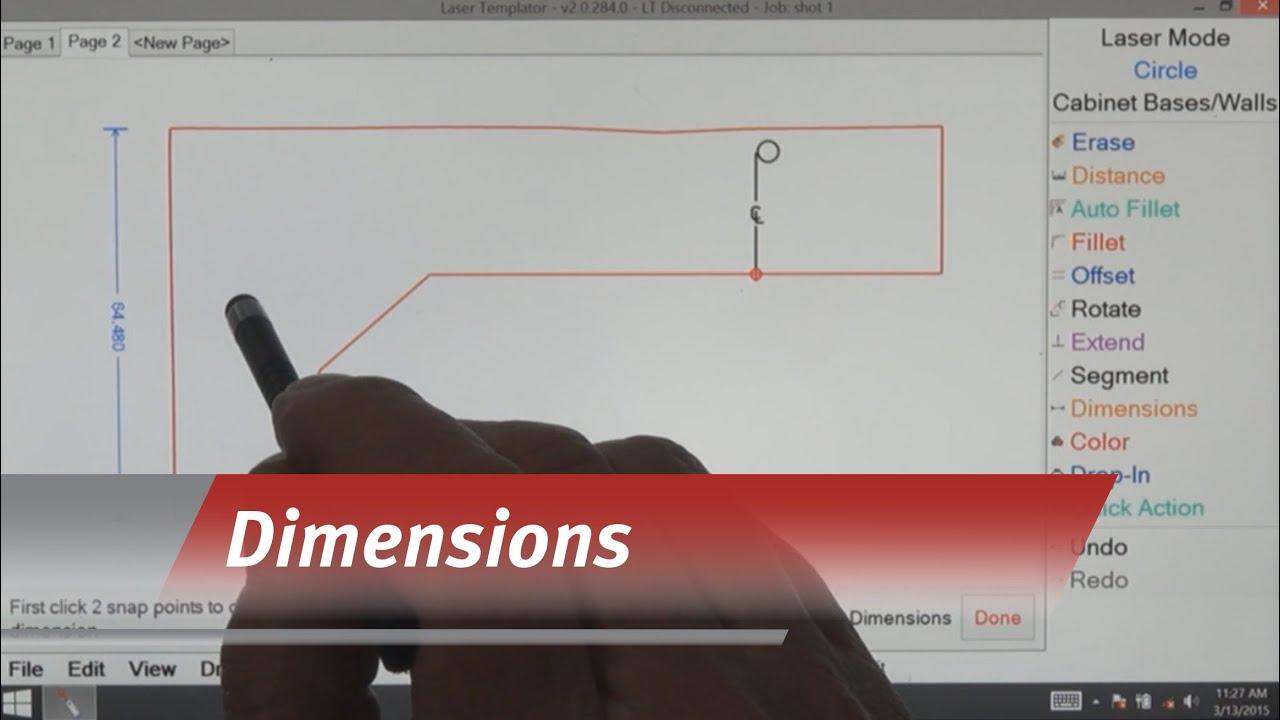 Laser Templator - Dimensions - YouTube
