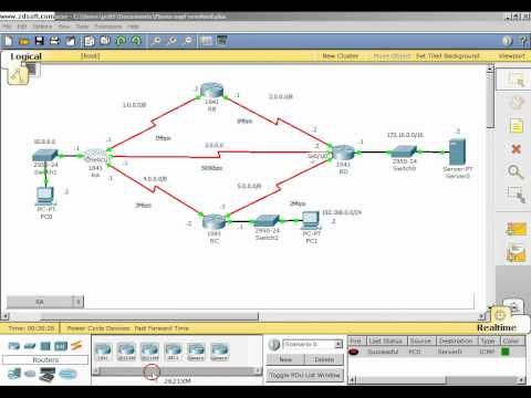 Configuração de interfaces, bandwidth e clock rate (Packet Tracer)