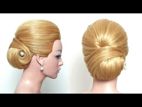 Smooth Elegant Low Bun Updo Hair Tutorial