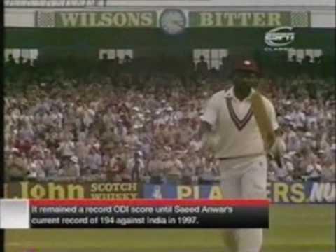 Greatest ODI Innings Ever By Viv Richards(189) Part 1