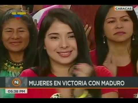 Presidente Maduro en acto con mujeres revolucionarias en la Plaza Bolívar, 25 enero 2018