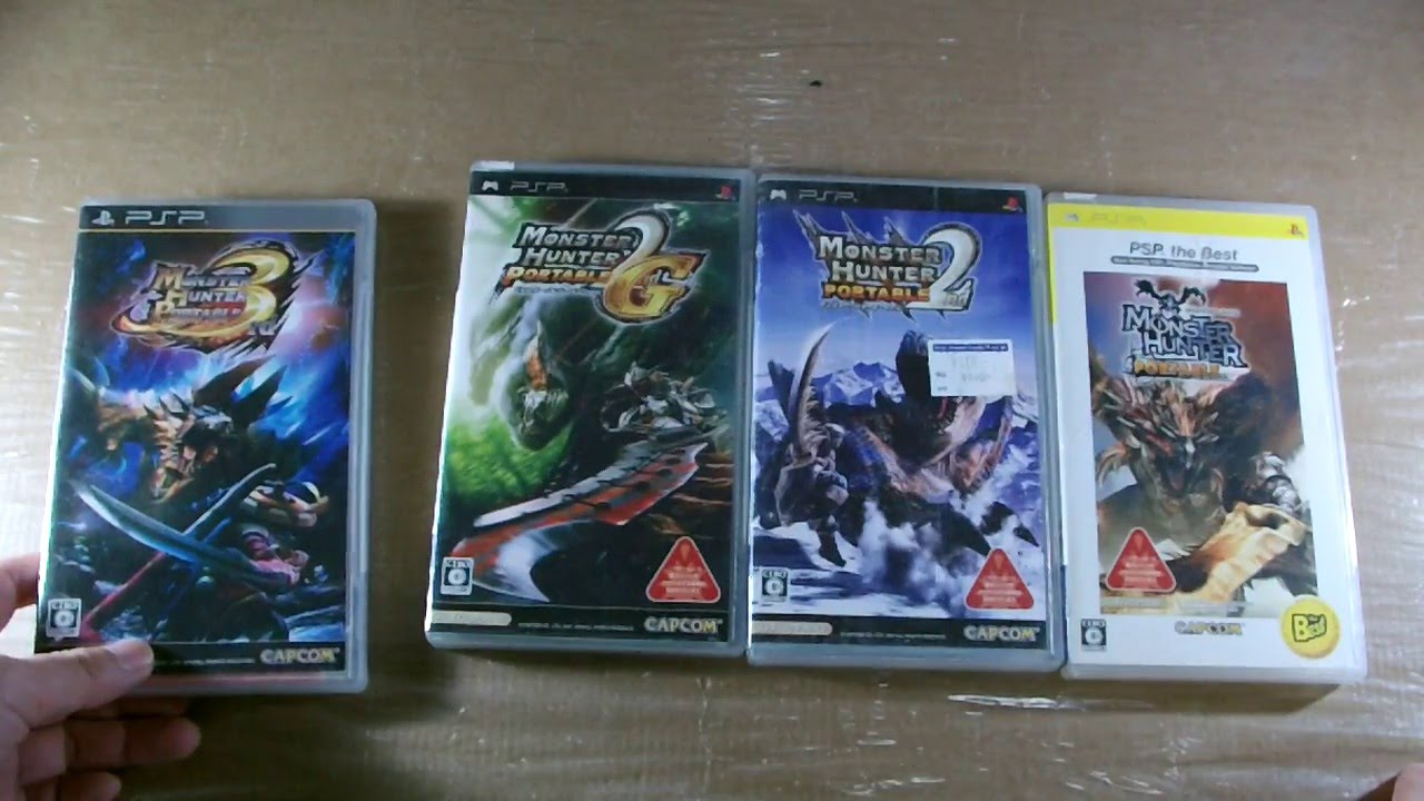 Product Reviews Japanese Imported Monster Hunter Portable 2 2G 3 PSP UMD Games