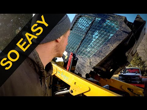 Lifting The Cab on CAT 259D
