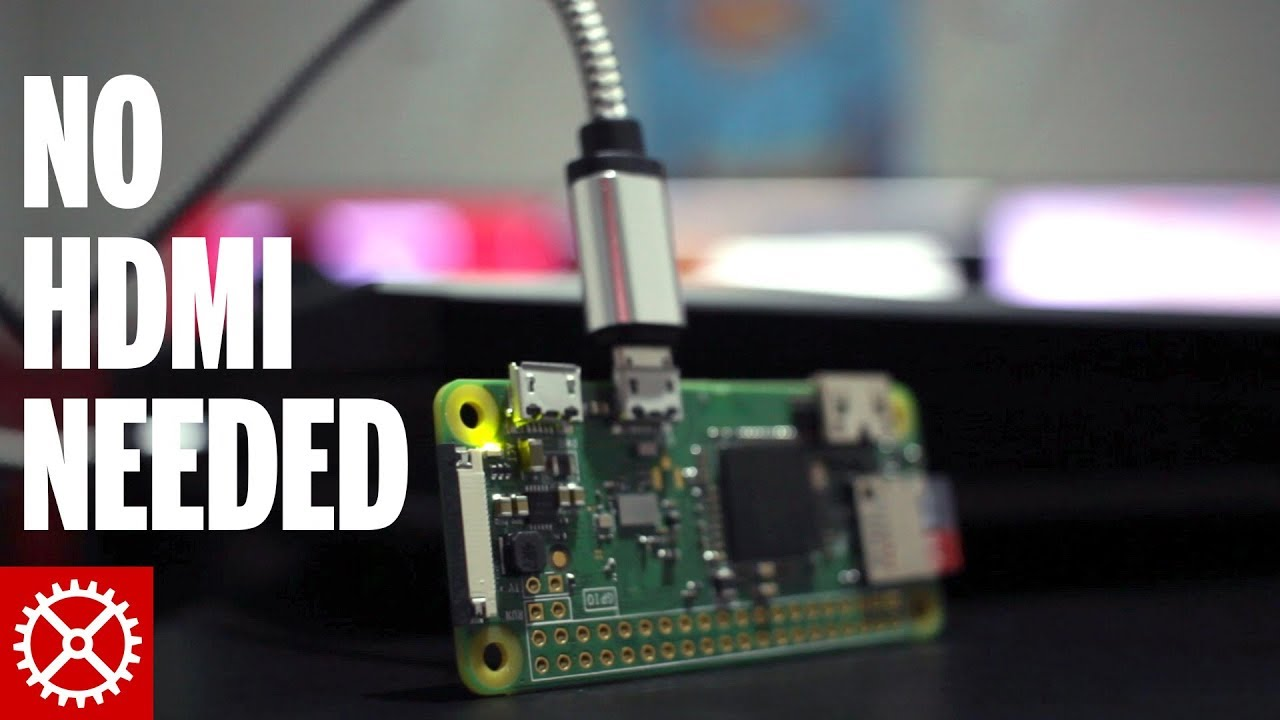 Connect to a Raspberry Pi Zero W via USB - No Mini HDMI Cable Needed