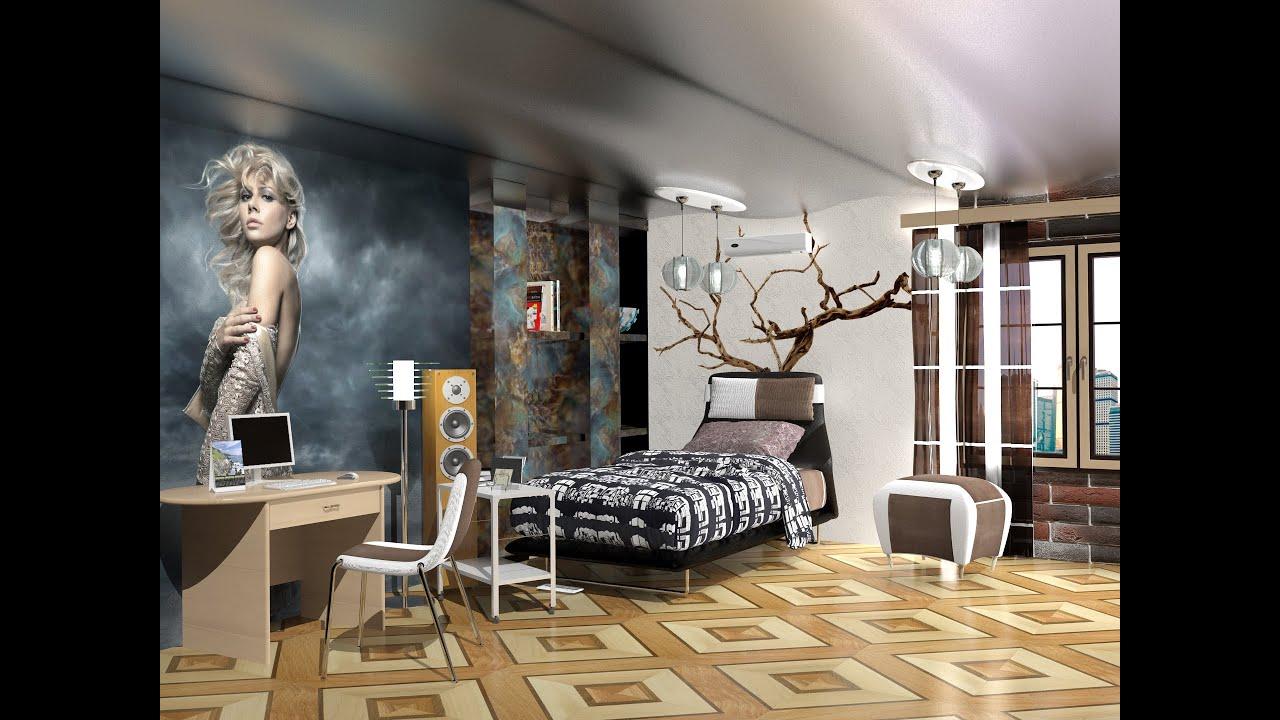 комната для подростка в стиле лофт Youtube