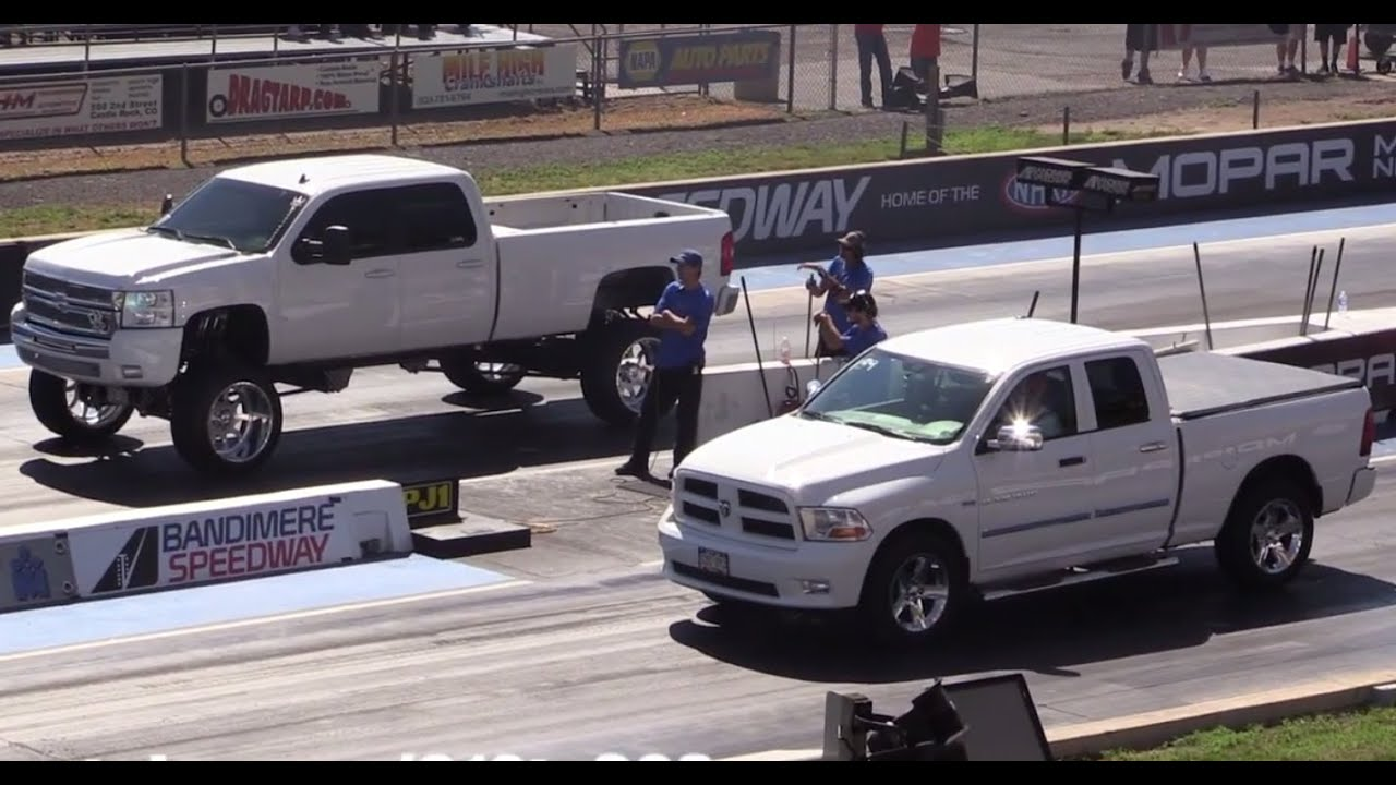 Monster Twin Turbo Duramax Diesel Vs Stock Dodge Ram 1500