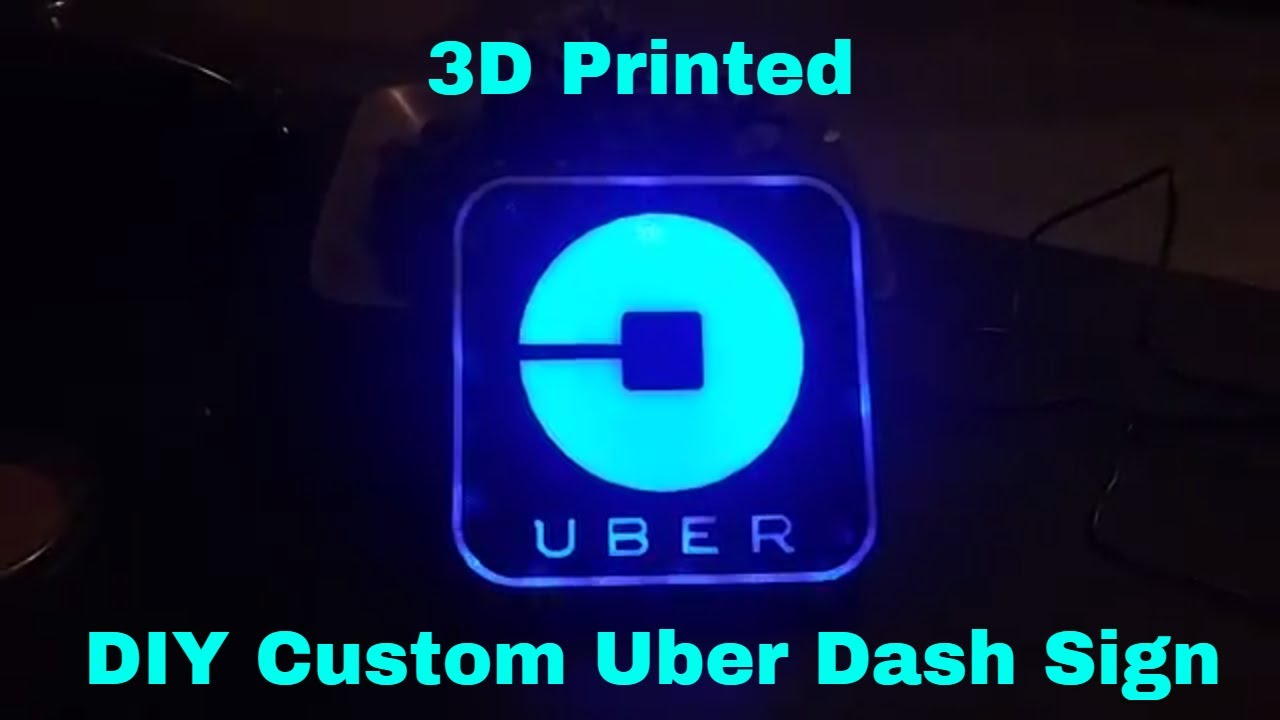 3d printed diy custom uber dash light