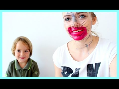 My Little Brother Does My Makeup!! (In Slovenian With Subtitles)
