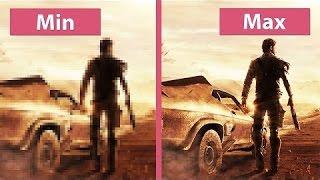 Сравнение графики Mad Max низкие и ультра настройки.
