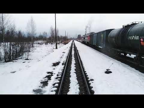 Белый Городок - Савёлово из окна поезда.
