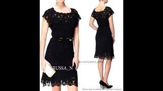 Платье  крючком в цветах простым мотивом
