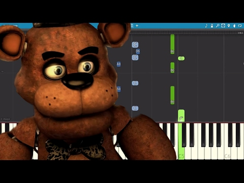 FNAF Freddy Song - Look At Me Now - TryHardNinja  - Piano Tutorial / Cover