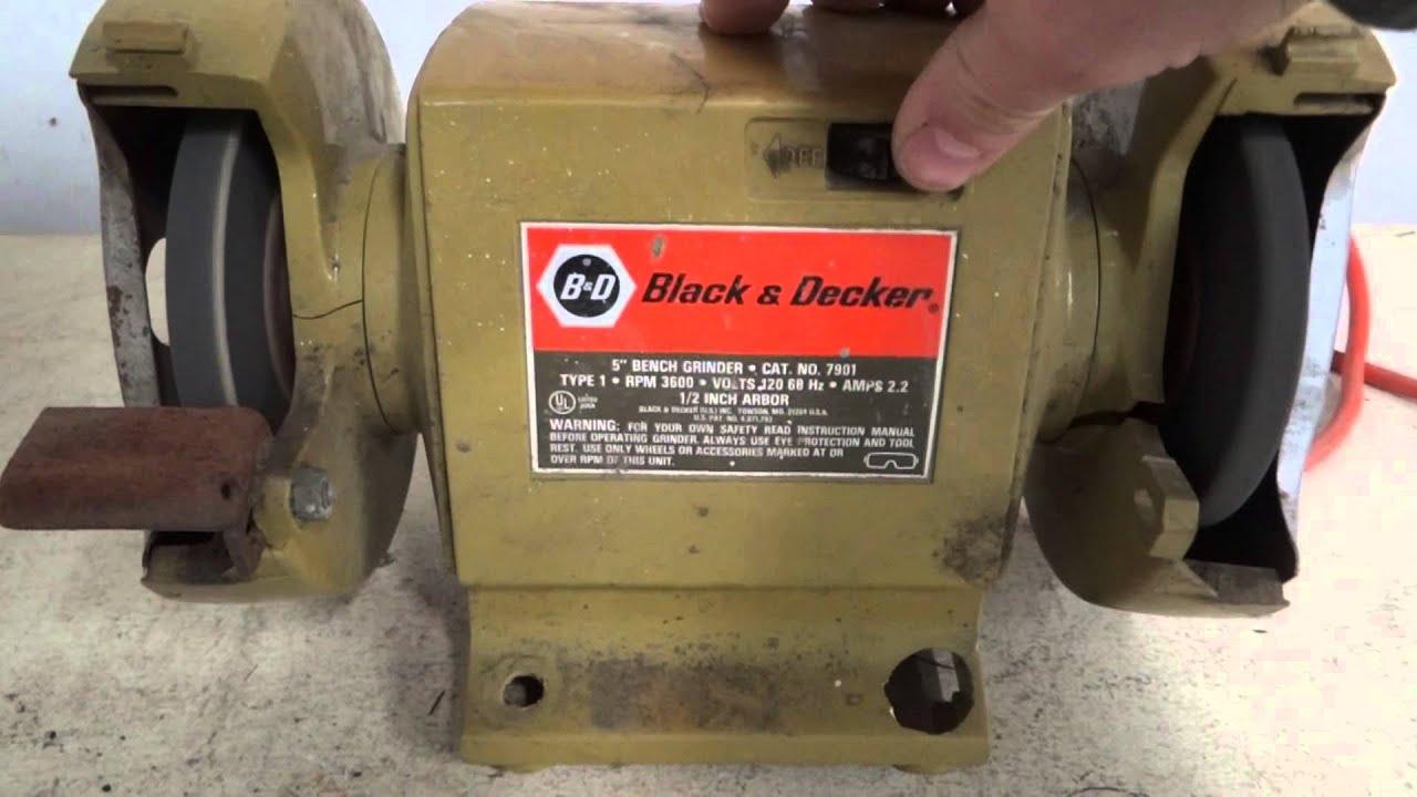 Black Decker Grinder Youtube