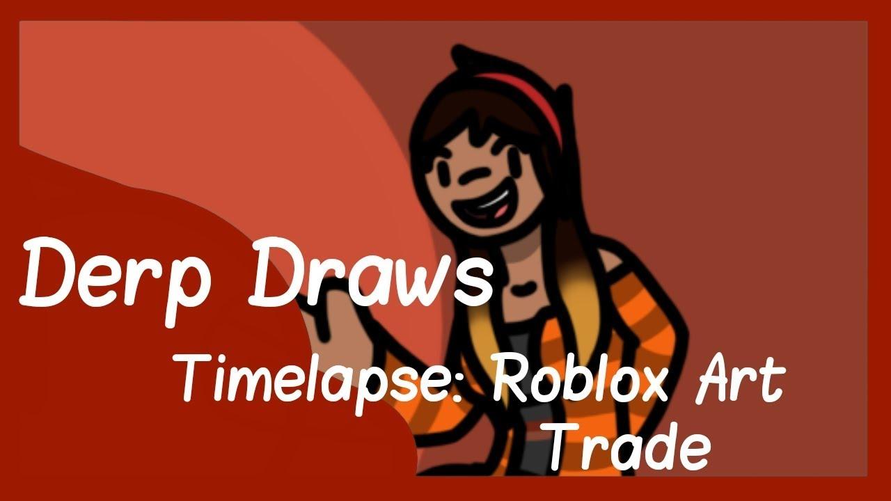 Digital Timelapse Roblox Art Trade Youtube - art trade roblox