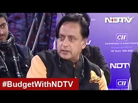 Shashi Tharoor On Government's Fiscal Target