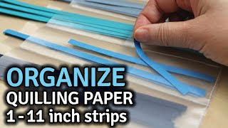 Quilling Strip Sheet Organizer for Long & Short Strips – Tutorial + Free Pattern – Quilling Storage