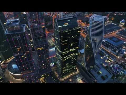 4К Drone - Москва Сити (Moscow City) с квадрокоптера