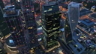 4К - Москва Сити (Moscow City) с квадрокоптера