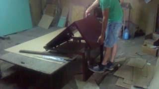 Люк в подвал под плитку 90х90х55 с передней стенкой