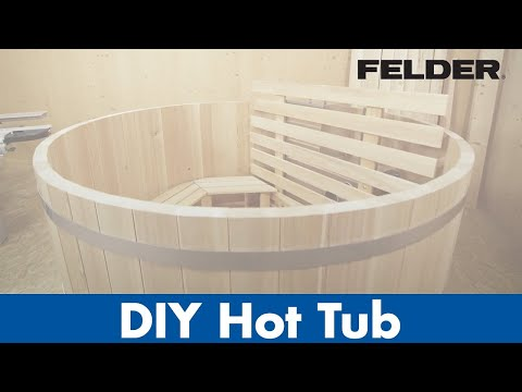 DIY Hottub of wood, made with FELDER® woodworking machines