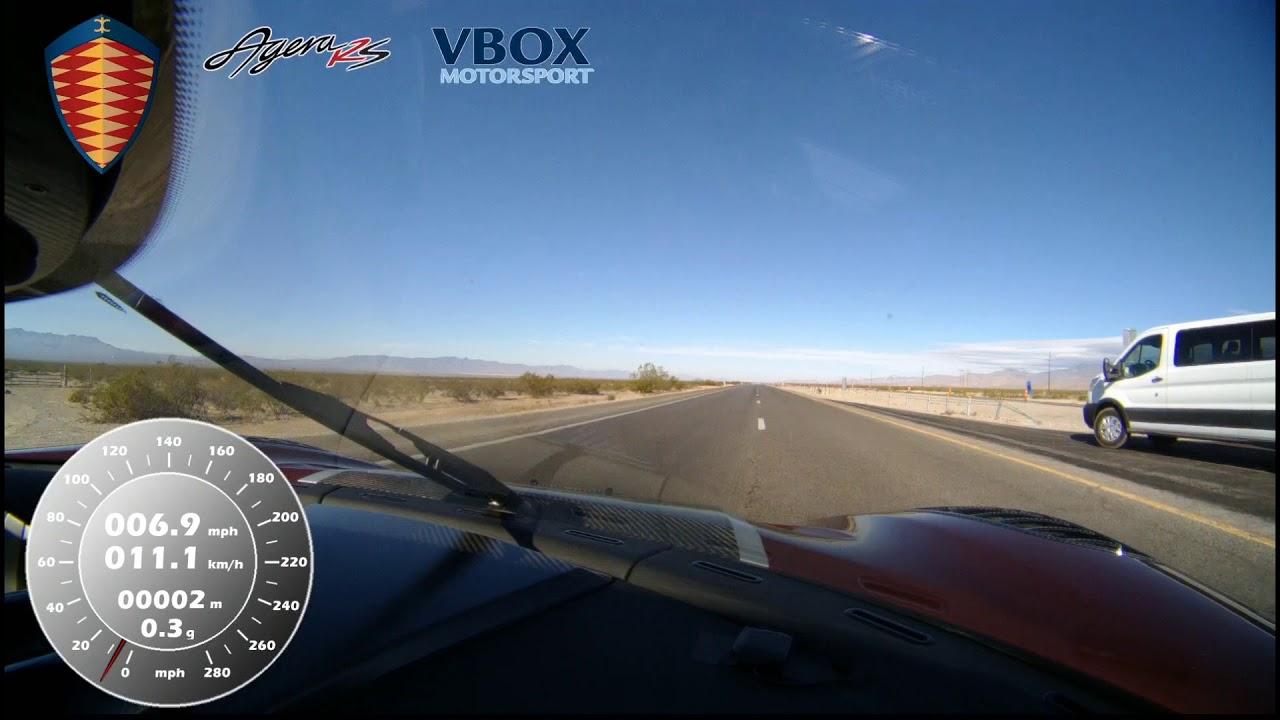 Wie eine Autofahrt mit über 450 km/h in einem Koenigsegg Agera RS aussieht