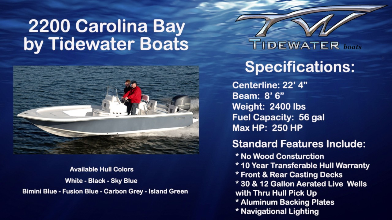 2200 Carolina Bay by Tidewater Boats