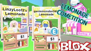 Brother VS Sister Lemonade COMPETITION Who Will Win? | Roblox Adopt Me