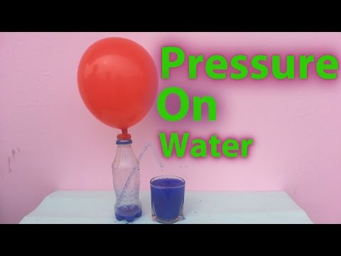 Effect of Air Pressure On water (Science Experiment)