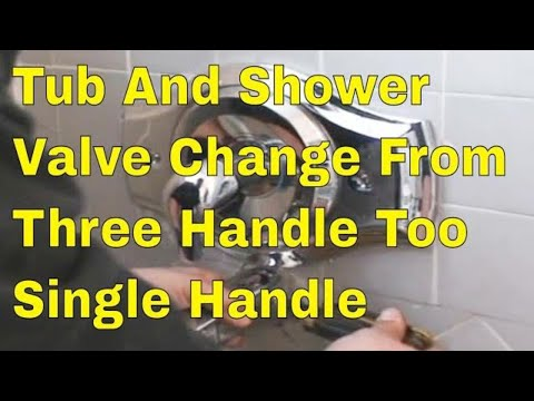 how to change valve in shower